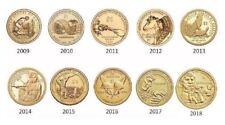 2009-2018 Sacagawea Native American 10 Coin BU Uncirculated Dollar Set