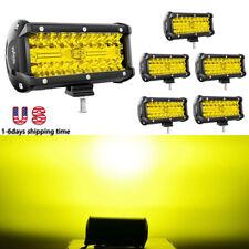 Nilight 6pcs Led Light Bar 65inch 7 120w Off Road Fog Driving Lights For Jeep