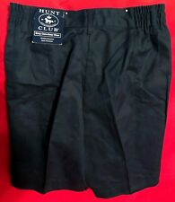 Nwt Hunt Club Boys/Mens Size 16 Slim Navy Blue Plated School Uniform Shorts