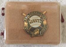 1989 MLB SAN FRANCISCO GIANTS WORLD SERIES BASEBALL PRESS PIN BY BALFOUR