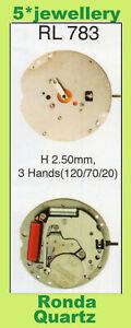 RONDA RL783 RL785 RL788 quartz battery works movement complete watch moduel