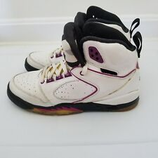 Air Jordan Sixty 60 Plus White/Red Plum-Black 365374-151 Youth GS Size 4.5Y
