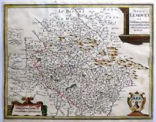 FRANCE LIMOGES LEMOVICI BY MATTHAUS MERIAN GENUINE ENGRAVED ANTIQUE MAP c1657