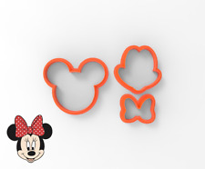 Minnie Mouse Face Cookie and Fondant cutter 30210 Set Head Face Bow