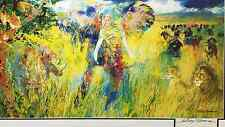 "LeRoy Neiman ""THE BIG FIVE"" Lithograph HAND SIGNED litho Art Animals 5"