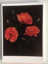 4 Kunst Postkarten, K.L.Honegger, Motiv Mohnblüten, Neu
