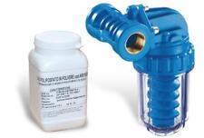 Filtro Dosatore Polifosfati Anticalcare 1/2'' F + Ricarica Sali Polifosfati