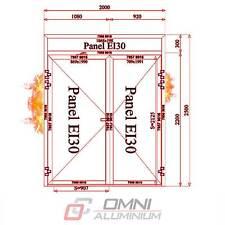 Brandschutztür T30 Rauchdicht Anschlagdichtung Brandschutz Aluminiumtüre 200x250