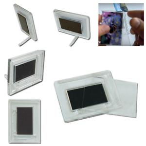 100pc Magnetic Pic Photo Frame Rectangular Blank Clear DIY Fridge Magnet Insert