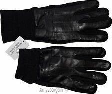 Men's Gloves, leather/knit gloves (XL) Winter gloves lined leather warm gloves