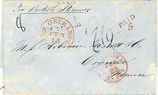 POSTAL HISTORY : USA - TRANSATLANTIC MAIL from NEW ORLEANS to FRANCE 1853
