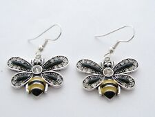 Bumble Bee Crystal Fashion Earrings Jewelry