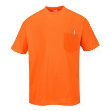 PortWest Pour hommes jour-Vis Poche T-Shirt Manches Courtes Différent Couleur et