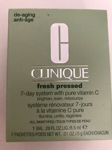 NEW Clinique Fresh Pressed 7-Day System with Pure Vitamin C Cleanser anti-aging