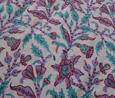 Indian Hand Block Multi  Print Running Loose Cotton Fabrics Printed Decor 3 Yard