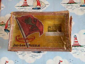 Vintage CUNARD Wooden Jigsaw , Ship / Maritime theme -  UNMADE