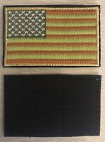 USA AMERICAN FLAG TACTICAL US MILITARY DESERT VELCRO® BRAND BACKING PATCH