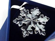 2016 Swarovski Large Crystal Snowflake Christmas Ornament NIB Austria