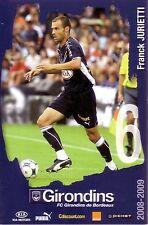 Franck JURIETTI *** Carte Postale *** Girondins de Bordeaux *** 2008/2009