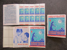"""France carnet timbres vignettes """"Tuberculose"""" 1961-1962 neuf ** TBE XY127"""