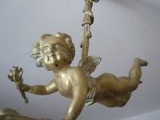 Lustre bronze cherubin angelot style Louis XVI d'époque 19ème