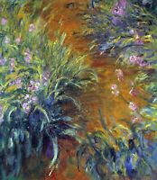 Irises by Claude Monet Giclee Fine Art Print Reproduction on Canvas