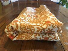 Vintage 15' long x 3' wide Retro Mid Century Modern Gold & Orange Fabric