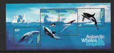 1995 Whales & Dolphins Mini Sheet Complete MUH/MNH as Purchased