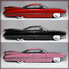 3 - JADA BIGTIME KUSTOMS 1959 Cadillac Coupe De Ville Die-cast 1:24 scale