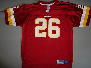 Red Washington Redskins #26 Clinton Portis NFL Football Jersey Youth XL (18-20)