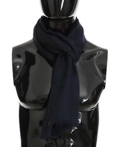 NEW DOLCE & GABBANA Scarf Blue 100% Cashmere Shawl Thin Wrap s. 180x80cm