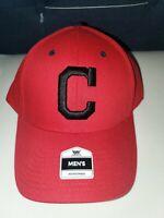 Cleveland Indians Mens Red Baseball Cap MLB Adjustable Hat by Fan Favorite