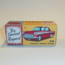 Corgi Toys  231 Triumph Herald Sedan Red empty Repro Box