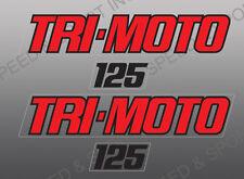 YAMAHA 1980 - 1982 YT125 TRI-MOTO THREE WHEELER DECALS