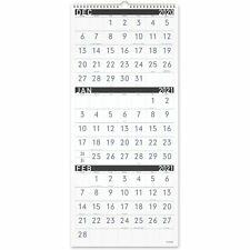 At-A-Glance Contemporary 3-Month Vertical Wall Calendar (pm11x28)