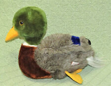 "7"" 1982 DAKIN MALLARD DUCK Vintage Plush Stuffed Animal Bird Green Brown BLUE"