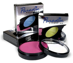 MEHRON PARADISE AQ FACE BODY PAINT CAKE MAKEUP COLOR STAGE THEATRICAL 1.4OZ 40 G
