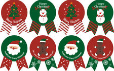 CHRISTMAS Stickers XMAS Red & Green Labels Seals Stickers Decoration Gift 40 pcs