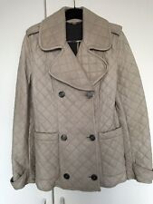 Burberry Stone Coloure Quilted Winter Jacket Size 8