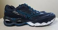 Mizuno Wave Creation 20 Men's Size 7.5 Running Shoes Black Blue EUC With Box