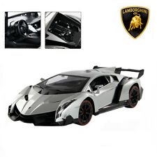 1:14 4CH Lamborghini Veneno RC Car Radio Remote Control w/ Open Doors Silver New