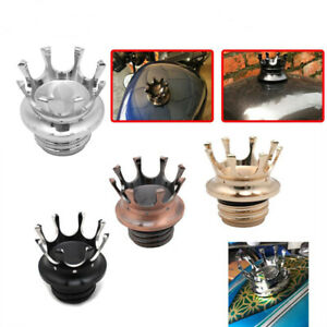 Crown Gas Tank Fuel Oil Cap Cover For Harley For Sportster Dyna Softail XL 883