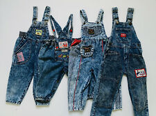 Vintage Acid Wash Kids Overalls