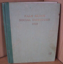 PALM BEACH SOCIAL DIRECTORY 1925