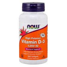 La vitamina D-3, 1000iu X 360 Cápsulas blandas-Now Foods D3