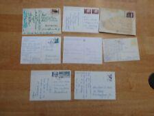 8 gelaufene Postkarten mit Schachmotiven Sammlerfreund an Sammlerfreund