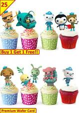 50 OCTONAUTS Birthday Cup Cake Toppers Rice Wafer Edible Party *STAND UP