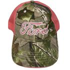 WOMENS FORD CAMOUFLAGE PINK GLITTER REALTREE MESH TRUCKER HAT CAP ADJUS ONE SIZE