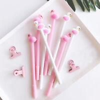 Lovely Flamingo Ball Point Pen Cartoon Ballpoint Pen Kid Office Stationery NEW