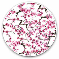 2 x Vinyl Stickers 7.5cm - Pretty Cherry Blossom Tree Pink Flower Cool Gift #871